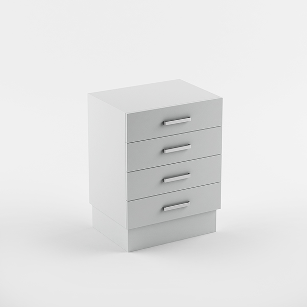 Cabinet 600 4 drawers - plinth