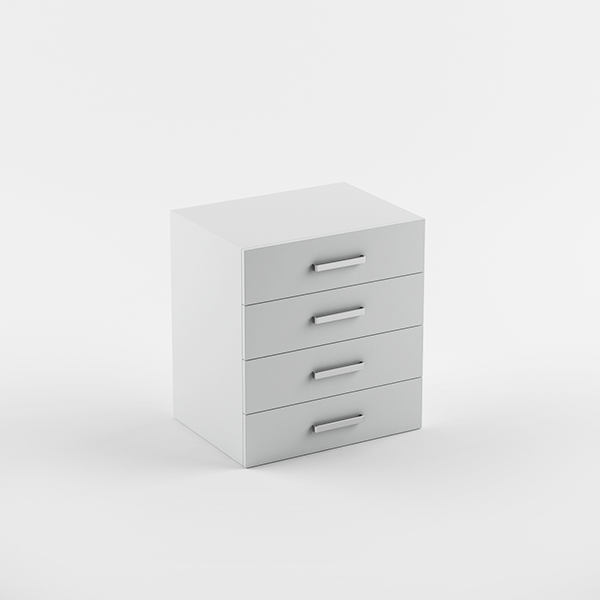 Cabinet 600 4 drawers - suspended