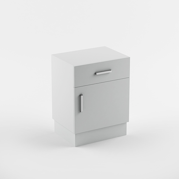 Cabinet  1drawer 1 door - plinth
