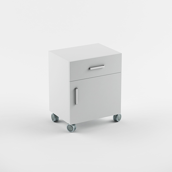 Cabinet  1drawer 1 door - wheels